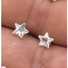 Brincos com Estrelas de Cristal