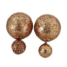 Brincos Inspiração Dior Dourados