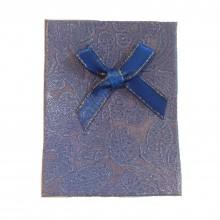 Caixa de Presente - Azul com Laço