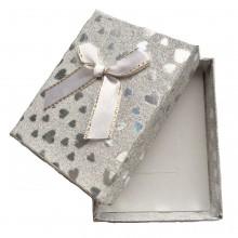 Caixa de Presente - Prata com Corações