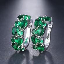 Meia Argola Luxo Verde