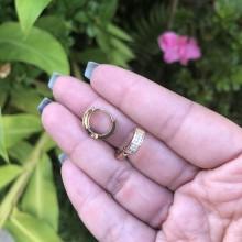 Mini Argolas Douradas