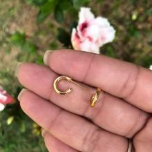 Mini Argolas Douradas - 0,9cm