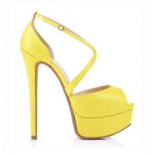 Peep Toe - Amarelo Fosco