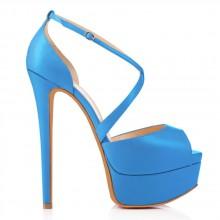 Peep Toe - Azul Fosco