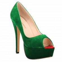 Peep Toe - Camurça Verde