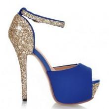 Peep Toe - Brilhante Azul