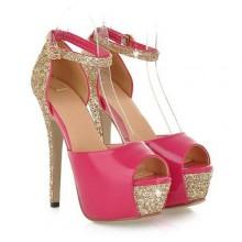 Peep Toe - Brilhante Pink