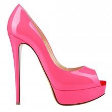 Peep Toe - Verniz Pink