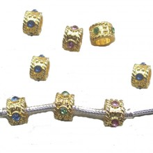 Charms Dourados Coloridos