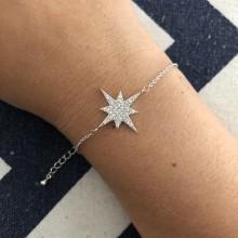 Pulseira com Estrela Cravejada