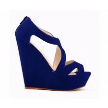 Sandália - Anabela Azul