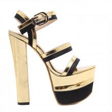 Sandália - Dourada e Preta