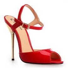 Sandália - Vermelha e Dourada