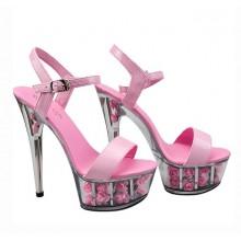 Sandália de Cristal com Rosas