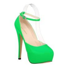 Scarpin - Verde com Tornozeleira