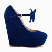 Scarpin - Anabela Azul Royal