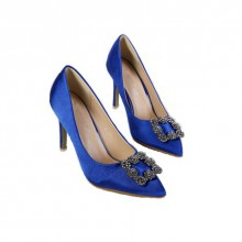 Scarpin - Azul com Fivela Prata