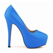 Scarpin - Azul com Meia Pata