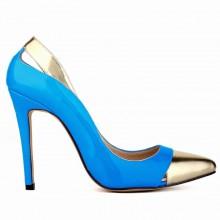 Scarpin - Azul e Dourado