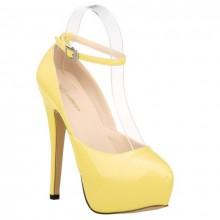 Scarpin - Amarelo com Tornozeleira
