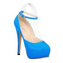 Scarpin - Azul com Tornozeleira