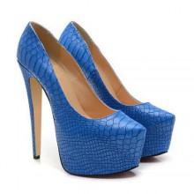 Scarpin - Croco Azul