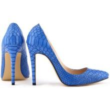 Scarpin - Pele de Cobra Azul