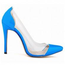 Scarpin - Transparente Azul