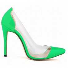 Scarpin - Transparente Verde