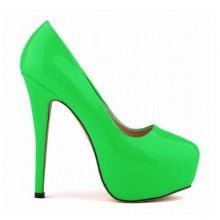 Scarpin - Verde com Meia Pata