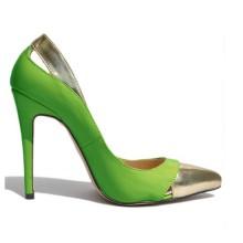 Scarpin - Verde e Dourado