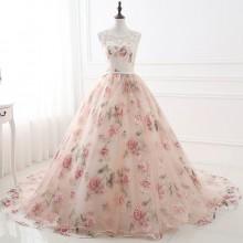 Vestido de Debutante Rosa Florido - V00033