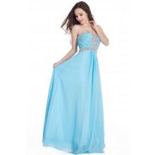 Vestido de Festa Azul Claro - V00064