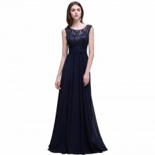Vestido de Festa Azul Marinho - V00028