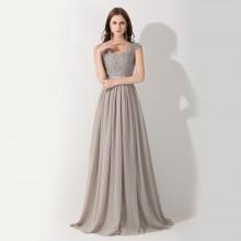Vestido de Festa Cinza - V00014