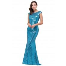 Vestido de Festa Paetê Azul - V00030