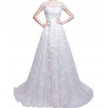 Vestido de Noiva com Flores - VN00011